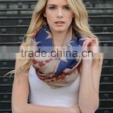 Clerance Sale for Spring and Fall Women Tattered American Flag Infinity Scarf
