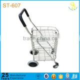 new style aluminium folding shopping trolley with 4 wheels(factory price)