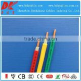 pvc insulated flexible earthing copper cable 2 core +earth wire pvc insulated cable 450/750v building wire