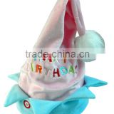 2015 new birthday gift music novelty hat top swinging and recording Function with Singing blue pink Birthday hat