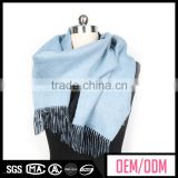 Wholesale neck scarves for women, light blue cashmere scarf, women shawls