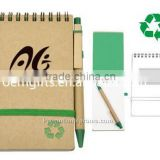 Customized Recycled Notebook with Ball Pen, eco-friendly note book