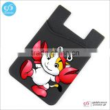 China suppliers 3M sticker silicone smart wallet for mobile phone card holder                                                                         Quality Choice