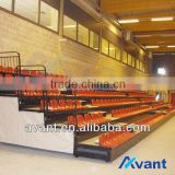 arena anti-fire multipurpose stadium retractable seating system,stadium chair for indoor multifunctional use