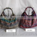 Colorful casual stampa paper straw bag