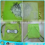 Silk screen soft velour printing green color custom beach towel bag and towel fabric shoulder belt                                                                         Quality Choice