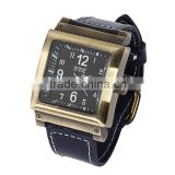 Classic Men Square Dial Quartz Leather Band Bracelet Analog Wrist Watch