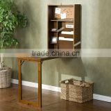 wall mounted folding table with black board made by wood
