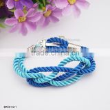 Meaning Braided Nylon Rope Silver Anchor Bracelets For Women