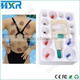 Healthy Personal Care Chinese Medical 12 Cups Vacuum Suction Body Cupping Massage Therapy Acupressure Magnet Ponit Kit Tool