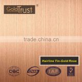 Beijing factory supply 304 stainless steel price per kg & cold rolled steel sheet hairline finish ti -gold rose colored
