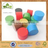 Small colored wooden cylinder pawn wooden game checker
