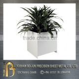 China wholesaler customized graceful office sheet metal planter, metal planter fabrication