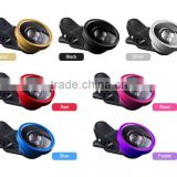 Wholesale 3 in 1 Clip-on 180 Degree Supreme Fish eye Lens 0.4X Wide Angle Lens Macro Lens Kit for iPhone 6s for iOS for Android