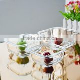 Popular high quality clear square 3pcs glass tempered container sets for fresh bowl from Bengbu Cattelan Glassware
