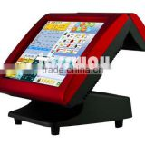 Resistive touch screen pos system with software