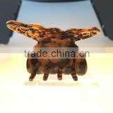 2015 fashion hair jewelry Luxury butterfly hair claw clip Tokyo tortoise shell brown clamp clip