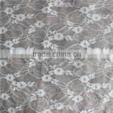 high quality cheap white lace fabric/italian lace fabric for lady's suits