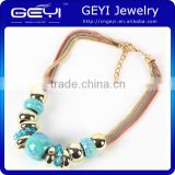 New arrival jewelry germanium magnetic necklace cross necklace multi chain ceramic beaded choker