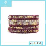 925 Sterling Silver Chocolate Bio Magnetic Leather Bracelet