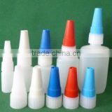 hot sale empty 20ml HDPE Cyanoacrylate Adhesive & Super Glue bottle with metal pin cap made in China