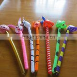 Stock Promotional Inflatable animal stick inflatable fish inflatable tiger inflatable dolphin toys