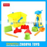 Zhorya children outdoor promotional summer set plastic yellow sand beach toys for kid