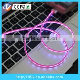 el luminous usb cable for mobile phone led light cable