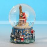 Polyresin+glass Christmas water Ball, High Quality Christmas water ball,Custom Snow Globe,Souvenir Gifts