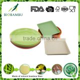 Professional manufacturer high technology natural bamboo fiber flower pot tray