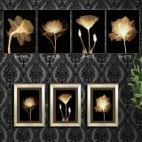 Wall art canvas prints 4 piece black and white flowers simple oil painting abstract canvas wall art ready to hang