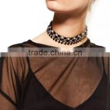 Fashion new design white/black opal gem choker necklace for women big brand jewelry