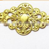 hollow rhombus flower jewelry accessories brass flower jewelry component fashion garment accessories