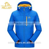 Men Fashion Clothes Fixed Hooded Windbreaker Pullover Softshell Jacket