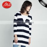 Women's machine knitted patterns aztec long tunic cotton cardigan sweater for wholesale