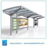 outdoor led display bus stop shelter