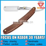 """GOLD DOLLAR RB-5"" wooden barber straight razor uses changeable blades"