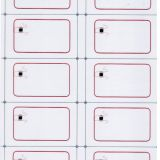 A4 (2 x 5) Layout 125KHz TK4100 IC/ID Inlay for Lamination