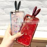 New Cute Flare Fashion Quicksand Glitter Rabbit Ears Phone Case For iPhone 6 6S 7 7 Plus Vivi Oppo Luxury Plating Phone Case
