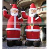 Giant christmas event use inflatable santa clause with gift