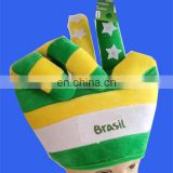 Hot selling Brazil peace sign hand hat