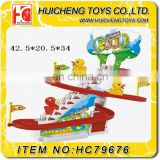 Lovely duck rotary slide amusement park Eco-friendly mini rail car for kids