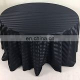 TC216A Black round table cloth guangzhou fabric market flocked damask fabric