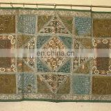 Wholesale Old Sari Patchwork Tapestry Wall Hangings handmade silk beads work Runner