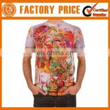 Promotional Hot Sale Sublimation T Shirts For Men Short Sleeve Cotton Shirt