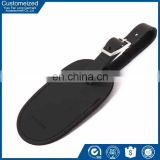 Wholesale writing branded leather luggage tag