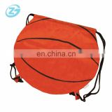 Customized Logo 210D Double-deck Polyester basketball Drawstring Bag