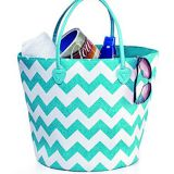 Drawstring beach tote bag with full printed