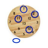 Outdoor kids wooden ring toss game with hanging board W01D019