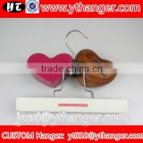 YY0542 hair extension hanger wooden hanger for hair packing with logo